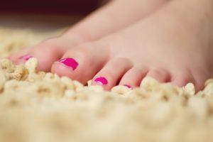 arreglo de uñas de los pies